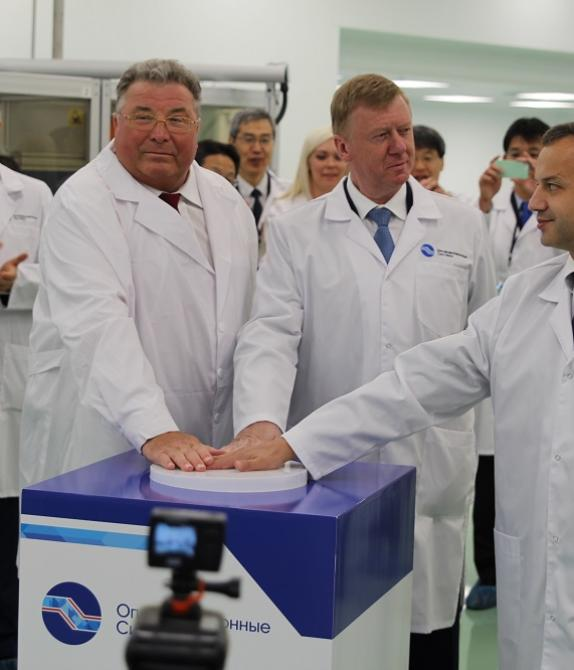 Opening of the first optical fiber production factory in Russia